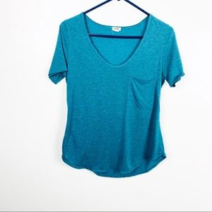 Garage Low V-Neck Tee With Front Pocket
